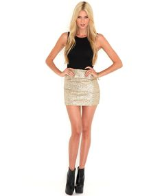 Amadine Sequin Contrast Dress...£27.99 http://www.missguided.co.uk/amadine-sequin-contrast-shift-dress ...x #fashion #sequins