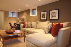 52 Super Ideas For Small Basement Furniture Layout Window Narrow Basement Ideas, Cheap Basement Ideas, Cozy Basement, Basement Floor Plans, Basement Layout, Basement Makeover, Basement House, Basement Apartment, Basement Flooring