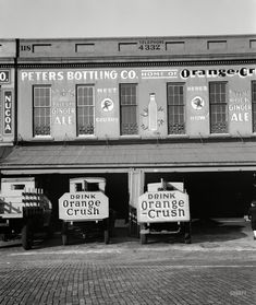"""March 1936. Savannah, Georgia. """"Waterfront warehouses."""" Large-format nitrate negative by Walker Evans for the Farm Security Administration."""