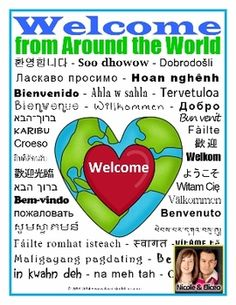 welcome in so many languages
