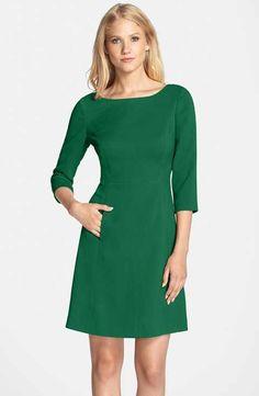 Vince Camuto Crepe A-Line Dress (Regular & Petite)