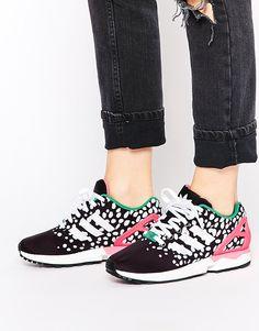 le dernier c111a 1c721 basket adidas zx flux rose motif fleur hibiscus,adidas zx ...