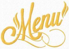 Menu free machine embroidery design. Machine embroidery design. www.embroideres.com