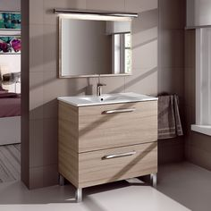 Found it at Wayfair.co.uk - Urban 80cm Vanity Unit With Mirror