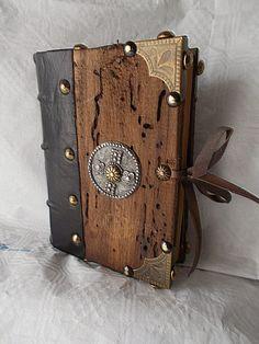JO, MALOSSI, ET AMICORUM: CHALEMAGNE'S BOOK handmade Bookbinding wood