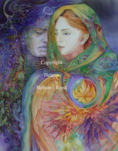 Helena Nelson - Reed is a visionary artist whose primary medium is watercolor. Thomas Kinkade, Vladimir Kush, Warwick Goble, Art Visionnaire, Twin Flame Love, Twin Flames, Josephine Wall, Kay Nielsen, Psy Art