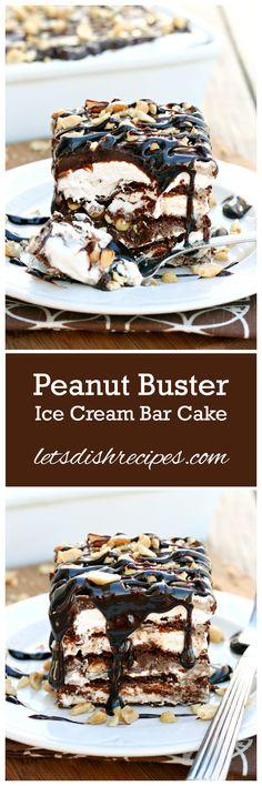 Peanut Buster Ice Cream Sandwich Cake