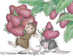 """""""Berried"""" from House-Mouse Designs®. This image was recently purchased on a rubber stamp. Click on the image to see it on a bunch of other really """"Mice"""" products."""