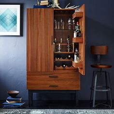 Another bar cabinet possibility, but not sure about the style.