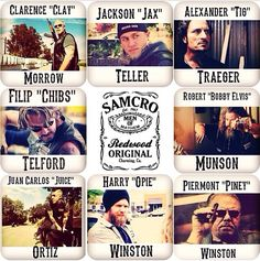 SAMCRO. sons of anarchy motorcycle club redwood original