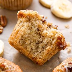 🍌☕️ Have you tried my Maple Pecan Banana Muffins yet? They're slightly sweet, super soft, and vegan... but you'd never guess from taste alone!!! We love them for breakfast - with extra strong coffee, of course 💁🏻 #recipe link in my bio @bakerbynature 👉🏻
