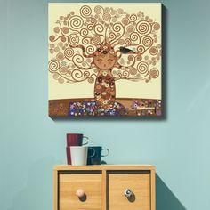Lienzo Kokeshi El árbol de la vida | Señor Cool