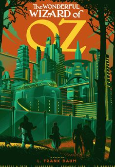 The Wonderful Wizard of Oz - poster by Laurent Durieux