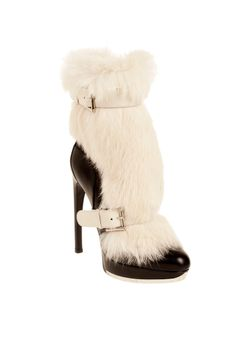 fall 2012, Alexander McQueen, shoes, boots + booties, high heels, white