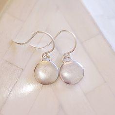 Simple yet beautiful sterling silver elegant earrings with a brushed finish. Silver Earrings, Pearl Earrings, Hoop Earrings, 925 Silver, Sterling Silver, Monsoon, Jewellery, Elegant, Beautiful