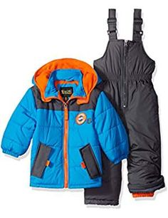 iXtreme Toddler Boys' Colorblock W/ Canvas Yoke Snowsuit, Blue, iXtreme boys snowsuit with canvas yoke and wilderness patch Snow Wear, Toddler Boys, Baby Boys, Amazon Price, Snow Suit, Boy Fashion, Latest Fashion Trends, Color Blocking, Motorcycle Jacket