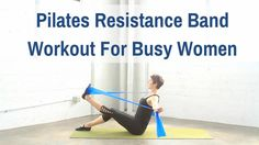 Improve your strength, flexibility and posture with this 18 minute Pilates resistance band workout.
