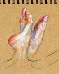 Awesome Painting by WanJin Gim — Steemit Anatomy Drawing, Anatomy Art, Art Sketches, Art Drawings, Feet Drawing, Drawing Studies, A Level Art, Amazing Drawings, Ap Art