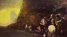 Pellegrinaggio: bozzetto dalle Pitture nere della quinta del sordo, 1820, cm. 33 x 57,5, proprietà privata
