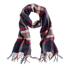cashmere plaid scarf | J. Crew