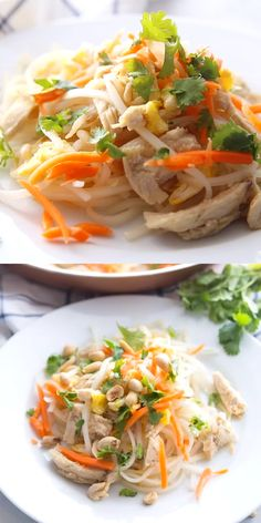 An easy and delicious Pad Thai recipe that can be on your table in minutes! Simply make the sauce, cook with your protein of choice (we love chicken or shrimp), and add in the noodles. A quick and healthy meal the entire family will love! Healthy Pad Thai, Easy Pad Thai, Thai Recipes, Asian Recipes, Asian Foods, Instant Pot Dinner Recipes, Healthy Dinner Recipes, Pad Thai Ingredients, Best Pad Thai Recipe