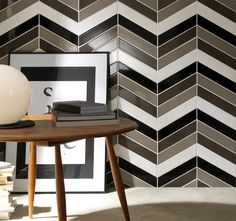Image result for photos chevron wall tile