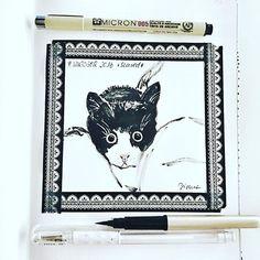 Day 13 #inktober2016 *scared*  #scared #catillustration #kitten  #inking #drawing #drawingoftheday #drawingchallenge  #drawinginspiration #tinte #micronpen #pentel #pentelpocketbrush @inktober