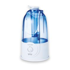 PureAire 12094 Ultrasonic Humidifier with 3 Litre Tank and Cool Mist/Variable Output/Auto Shut-Off Features, White/Blue Ultrasonic Cool Mist Humidifier, Air Humidifier, Power Sprayer, Poultry House, Dehumidifiers, Air Purifier, Irrigation