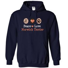 peace love NORWICH TERRIER I love my NORWICH TERRIER T-Shirts, Hoodies. GET IT ==► https://www.sunfrog.com/Pets/peace-love-NORWICH-TERRIER-I-love-my-NORWICH-TERRIER-6887-NavyBlue-17522107-Hoodie.html?id=41382