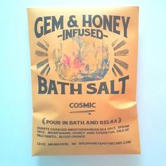 Cosmic Bath Salt Quartz Charged and Honey Infused #vegangifts #vegangiftsforher #veganbathbody #lavenderfields