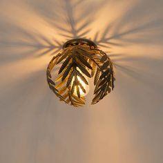 Shop for Vintage ceiling lamp gold 24 cm - Botanica online! Bedroom Ceiling, Bedroom Lamps, Box Ikea, Chandeliers, Flush Lighting, Pendant Lamp, Living Room Kitchen, Ceiling Lights, Art Deco