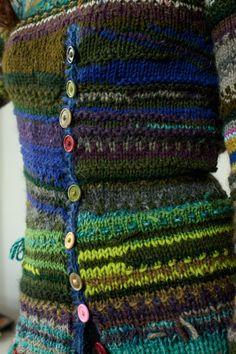 Handmade striped wool sweater by TASSSHA on Etsy