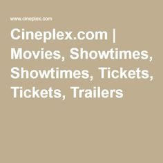 Canada's most popular destination for movies, showtimes, tickets, and trailers. Abc News Live, Video Search Engine, Dr Mike, Try Guys, Ace Family, Acceptance Speech, How To Make Box, Original Song, Movies Online