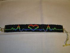 Show your PRIDE and support with this handmade loom beaded bracelet