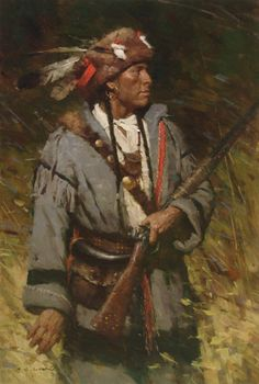 native american fine art and paintings | artist # z.s. liang # native america # painting