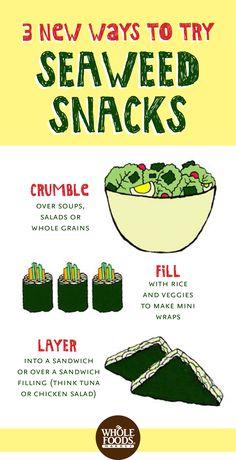 Veggie Snacks // Seaweed snacks are loaded with nutrients