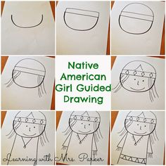 Guided Drawings of Pilgrims and Native Americans - Learning With Mrs. Parker Guided Drawings of Pilgrims and Native Americans - Learning With Mrs. Thanksgiving Drawings, Thanksgiving Art, Thanksgiving Preschool, Fall Preschool, Fall Art Projects, School Art Projects, School Ideas, Craft Projects, Pilgrims And Indians