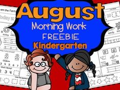 August Kindergarten Morning Work FREEBIE (Common Core) Includes: •10 pages •10 differentiated pages •10 differentiated beginner pages This product is meant to be MODELED FIRST, probably for a few weeks (It's great to use at morning meeting, during calendar time…)  After that time, your students will become familiar with the format and should be able to complete it on their own.