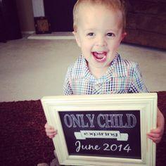 Only Child Expiring Chalkboard PRINTABLE sign. by JoyfulArtDesigns. Maternity Photo Session props.