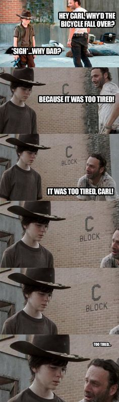 Coral meme the bicycle is too tired Walking Dead