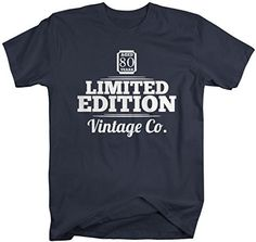 Shirts By Sarah Men's 80th Birthday T-Shirt Limited Edition Personalized Vintage Shirts