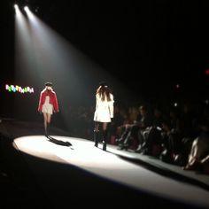 On the runway at Betsey Johnson right now. #Fashion #NYFW #BetseyJohnson