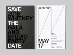 2016 Whitney Gala and Studio Party Save the Date Photograph by Jens Mortensen.