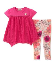 Juicy Couture Pink Handkerchief Tunic & Leggings - Infant, Toddler & Girls   zulily