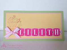 Stampin' UP! Letter it Fürs Baby by First Hand Emotion