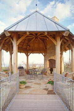 Octagon Pavilion - Timber Frame  www.texastimberframes.com https://www.facebook.com/pages/Texas-Timber-Frames/72503484999