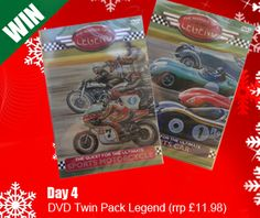 Day 4 Opens at 12.00pm (Sunday 15/12/13) Win our Twin Pack DVD The Marque of a Legend. Simply Click on the Link in our Contact Form 12 Days of Christmas Promotion Add your Email Order ID (Day 4) Put your Name in the Message Box Good Luck xx