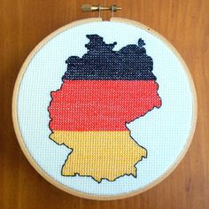 Germany Cross Stitch Pattern, Digital Download PDF, from bythelindentree