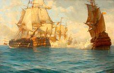 The Battle of Trafalgar, 21 October 1805.