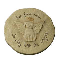 Dog Angel Memorial Garden Stone - $24.99 Free Shipping